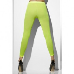 Opaque Footless Tights Neon Green