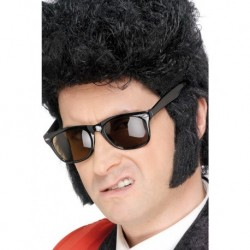 Teddy Boy Sideburns Black Self Adhesive