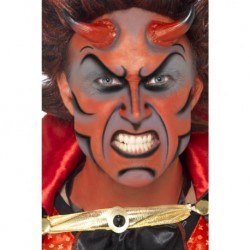 Devil Make Up Kit includes Face Paint Horns and Sponge