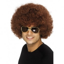 70's Funky Afro Wig Brown