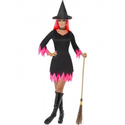 Witch Costume, Black and Pink