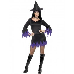 Witch Costume, Black and Purple