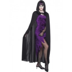 Hooded Vampire Cape, Black