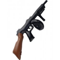 Inflatable Tommy Gun, Black