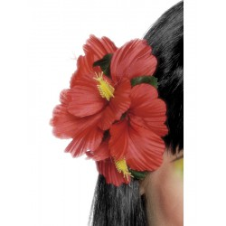 Hawaiian Flower Hair Clip, Red