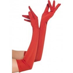 Gloves, Red, Long